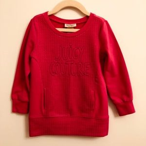 Juicy Couture long pink sweater - size 4T